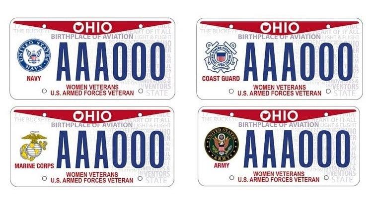 Ohio Offers License Plates For Woman Veterans Wfmj Com