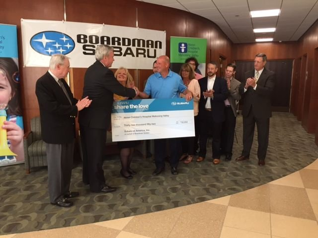 Boardman Subaru Donates 32k To Akron Children S Wfmj News Weather Sports For Youngstown Warren Ohio