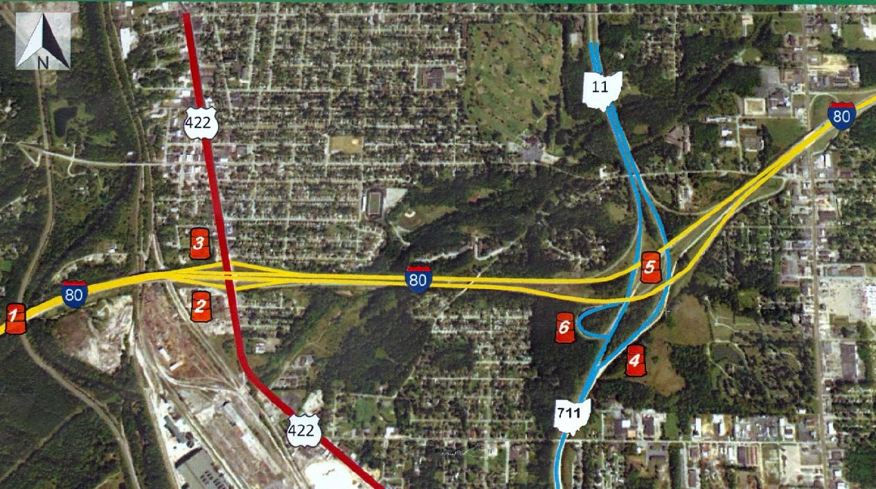 I 80 Ohio Map.Six I 80 Ramps Now Closed For Construction Project Wfmj Com News