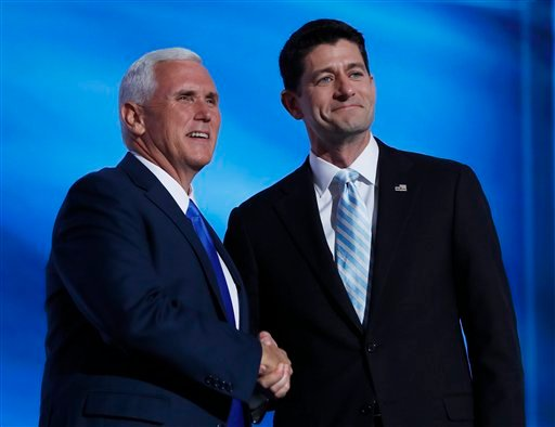 Pence, Ryan urge Republicans to 'come home' for Trump ...