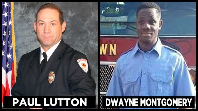 Youngstown firefighter Paul Lutton was wounded and firefighter Dwayne Montgomery had a close call after being fired upon