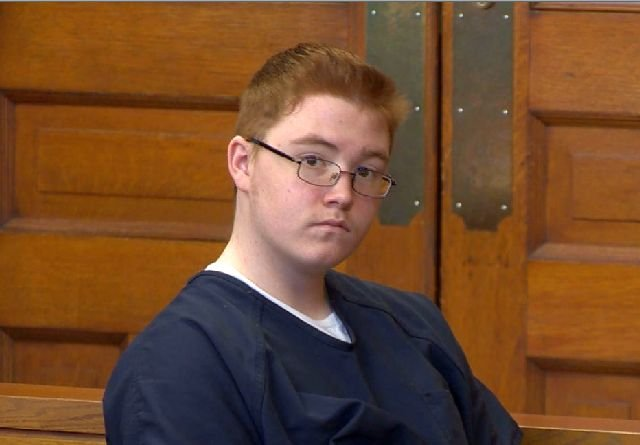 Jacob Larosa at his hearing in Trumbull County Common Pleas Court