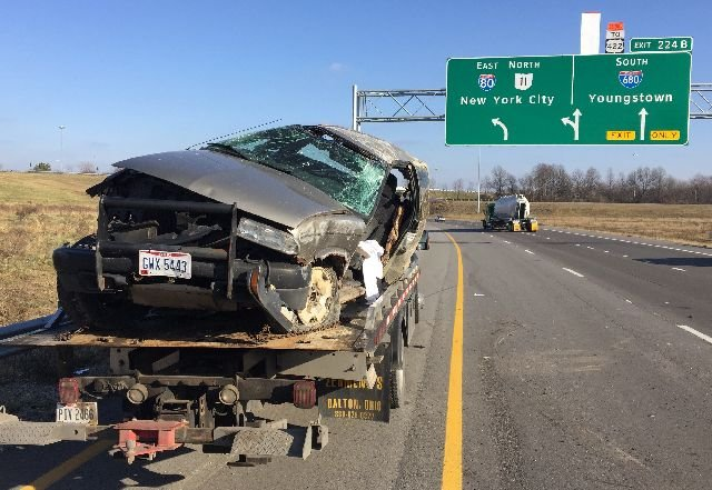 Injury accident snarls traffic in I-80 in Austintown - WFMJ com News