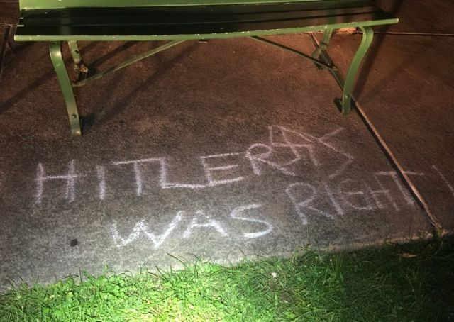 Graffiti found in Mill Creek Park in September