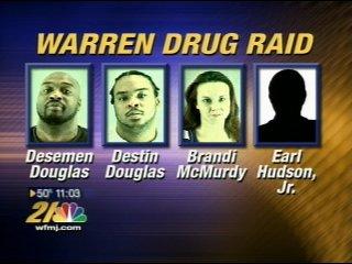 Five arrested in Warren drug raid - WFMJ com News weather sports for