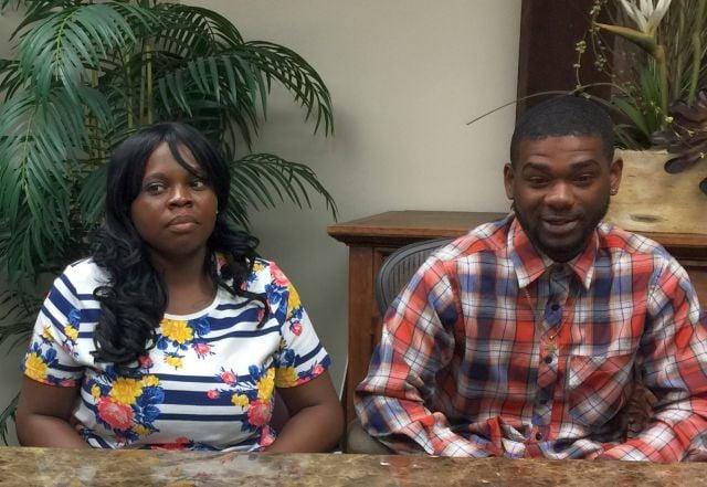 Stevelyn Jackson and Lawrence Brooks Jr.