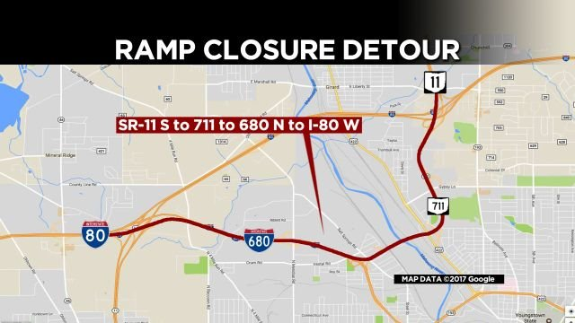 Detour from 11 SB to 80 WB