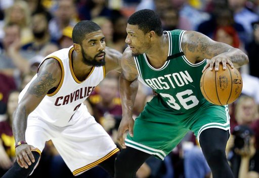 Irving, James push Cavs past Celtics