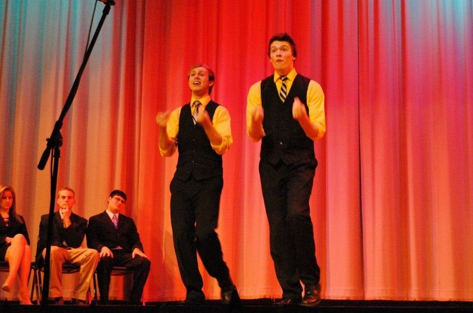 Daniel Ferguson performing with the Austintown Fitch Speech and Debate Team