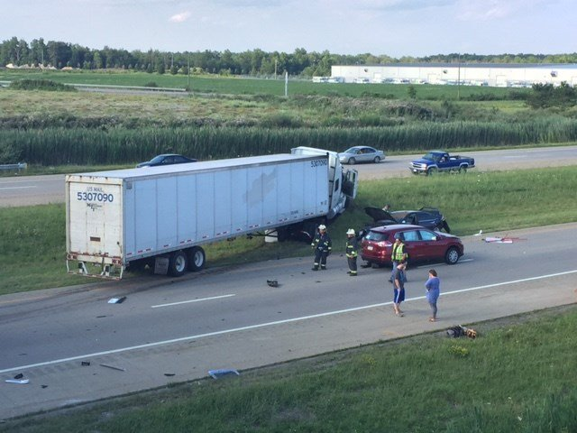Several people taken to hospital after three crashes on I-76