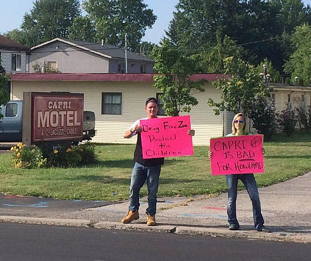 Protesters At Howland Motel Worried About Illegal Activity