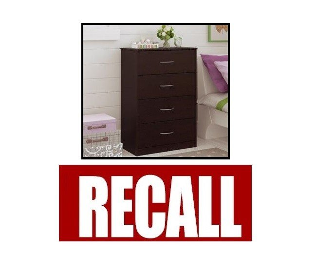 Walmart dressers recalled for tipping risk