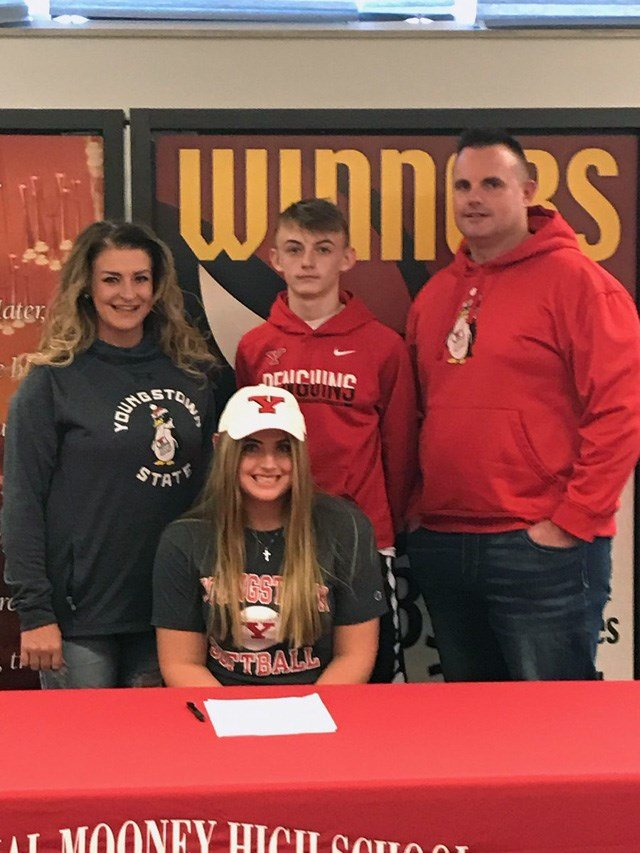 Kayla Rurtherford signs with Youngstown State for softball.