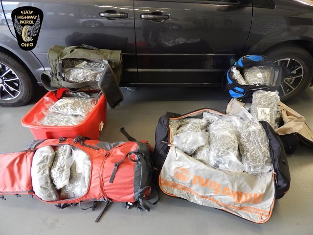 The Ohio State Highway Patrol Seized 76 Pounds Of Hydroponic Marijuana  During A Routine Traffic Stop.