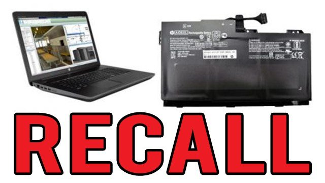 Recall Alert: HP recalls notebook computer batteries