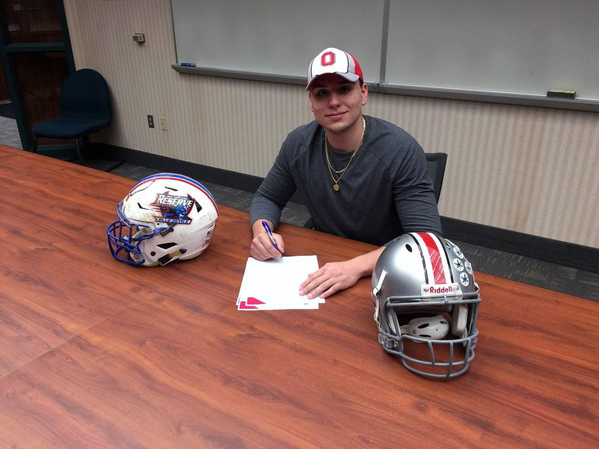 Western Reserve's Jack Cappabianca signs with Ohio State.