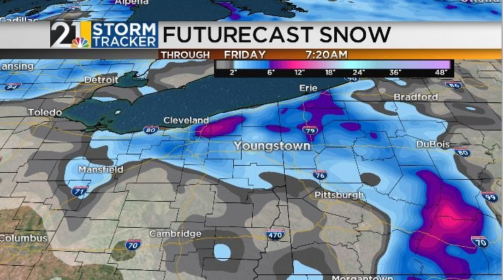 The chance for rain and snow will return overnight