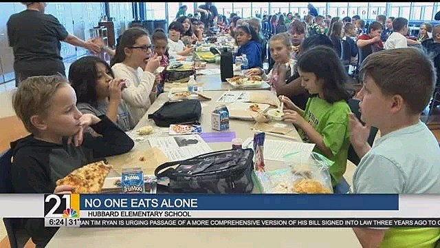 Hubbard Auto Center >> Hubbard school rewinds No One Eats Alone - WFMJ.com News ...