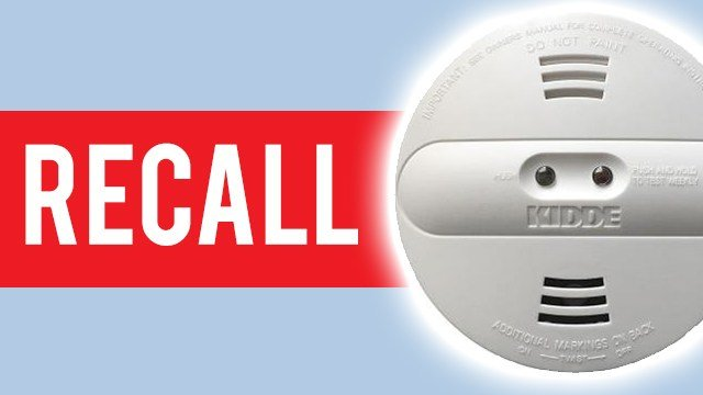 Kidde Dual Sensor smoke alarms recalled