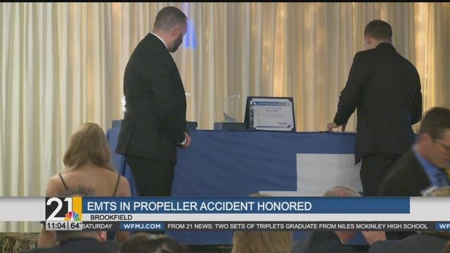 EMTs who saved propeller accident victim among those honored by