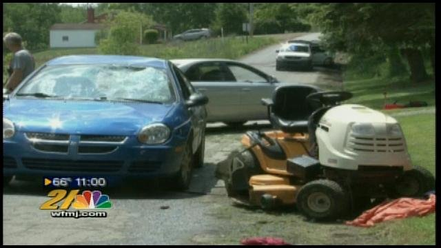 10 year old  in lawn mower accident