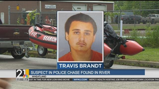 Suspect in police chase found dead in the Shenango River - WFMJ com