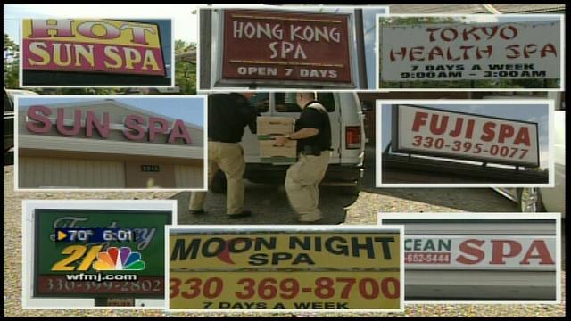 warren ohio massage parlor raided