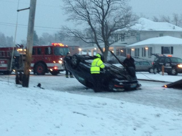 Crash reported on McGuffey and Stiles.