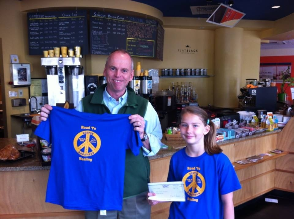 Brooklyn Mullenax traveled to Boston to personally deliver money raised from the 10-year-old's local fundraiser.