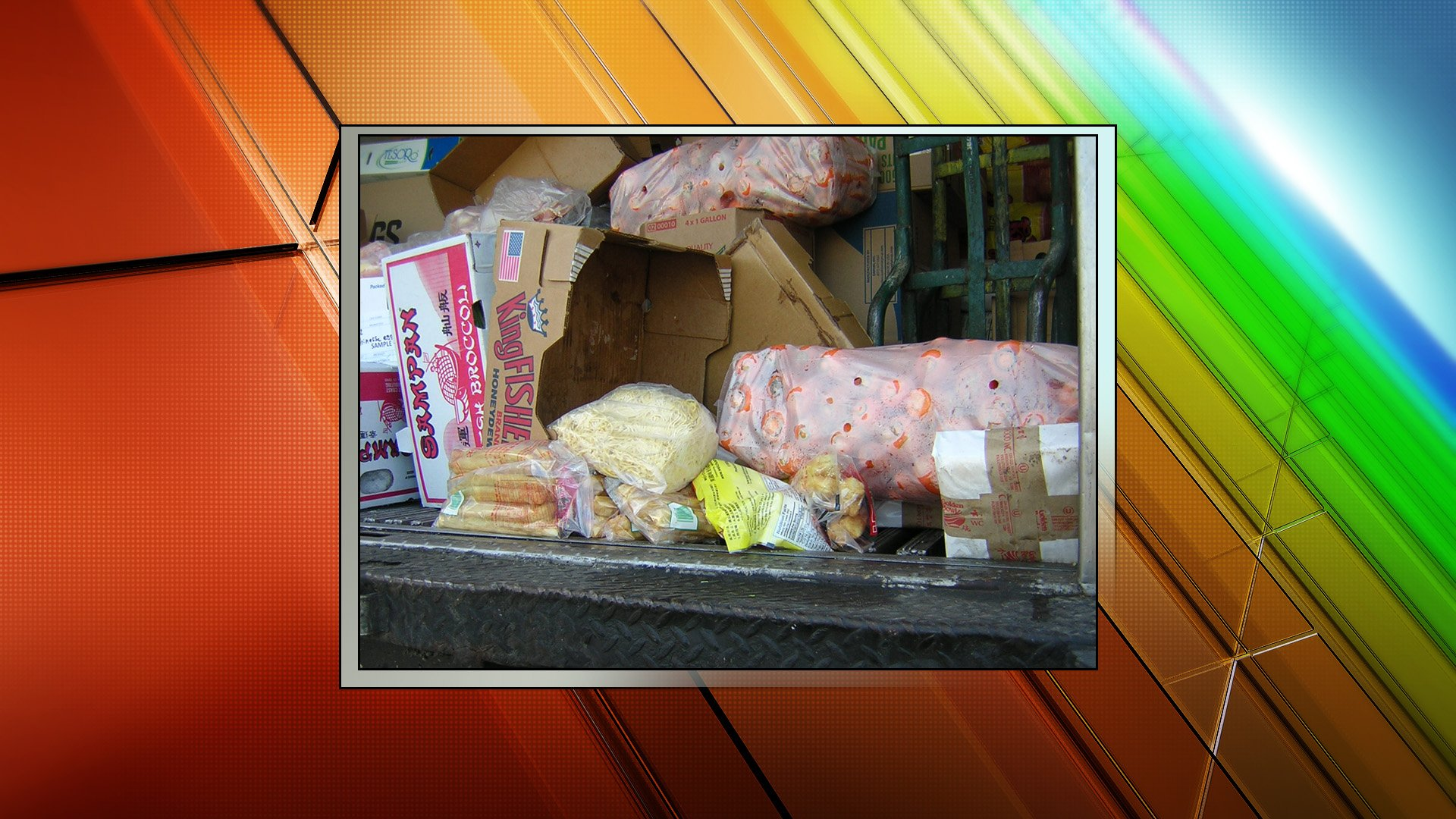 The contaminated food that was disposed of at a landfill.