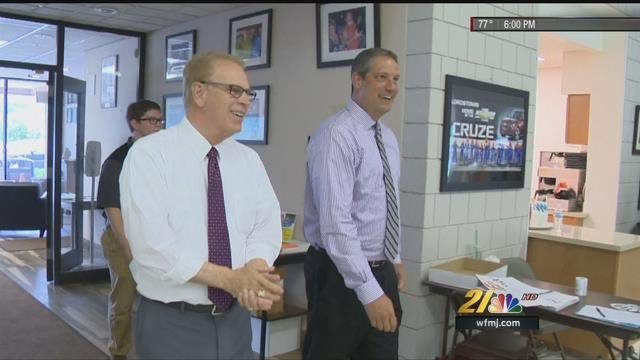 Ted Strickland and Rep. Tim Ryan