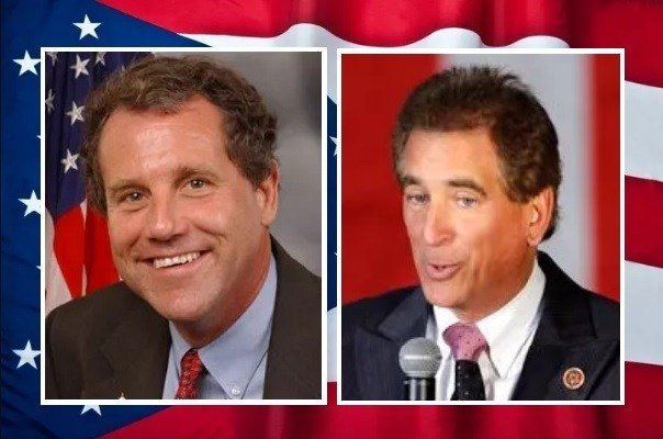 Sherrod Brown (L) Jim Renacci (R)