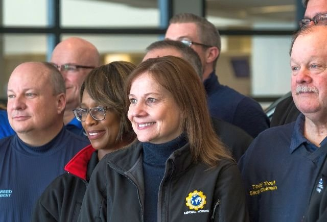GM CEO Mary Barra at Lansing plant