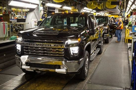 A Chevrolet Silverado from the General Motors Flint Assembly Plant