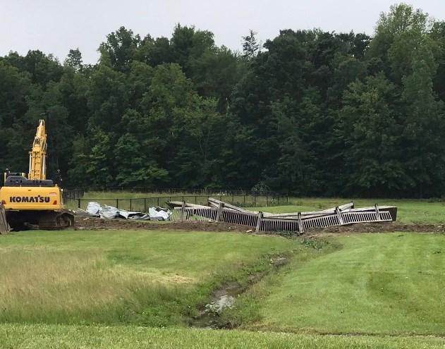Damage near Southington School
