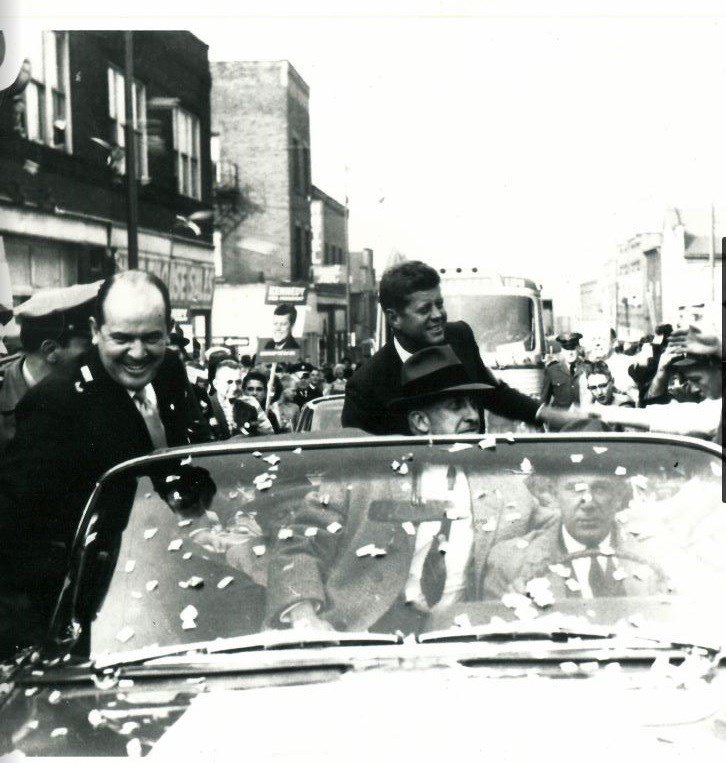 Chief Caputo with President Kennedy