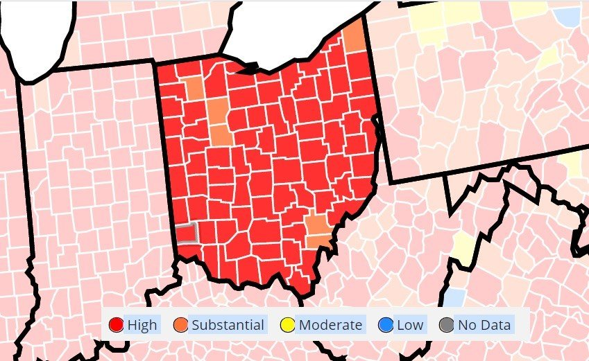 Mahoning Valley 'sees red' when it comes to COVID transmission