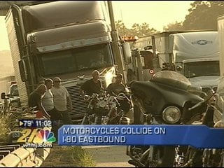 Motorcycle accident on Interstate 80 on Saturday night -