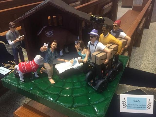 Hipster Nativity Scene Generates Talk Wfmj Com
