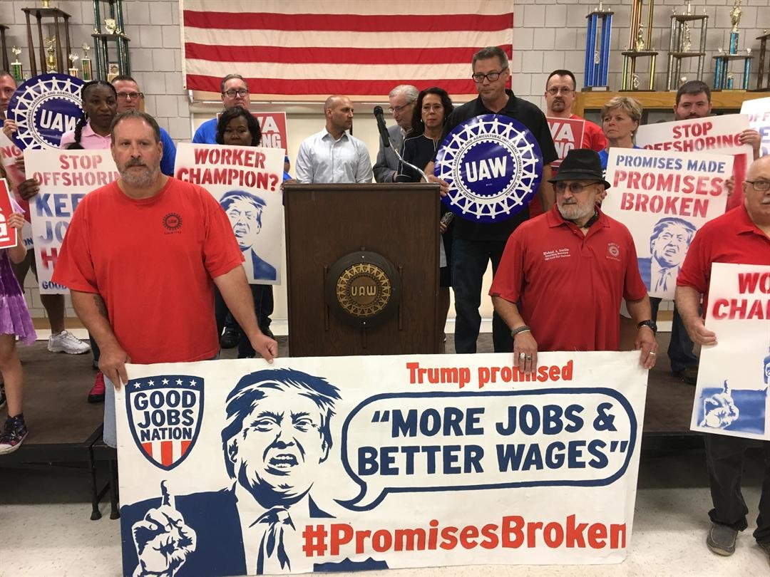 Image result for trump blames the UAW