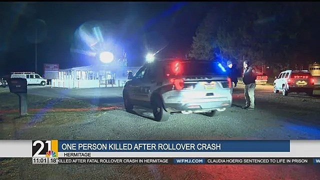 Police identify victim in fatal rollover crash in Hermitage -