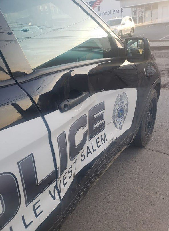 Cruiser damaged in crash during high-speed chase in Greenville