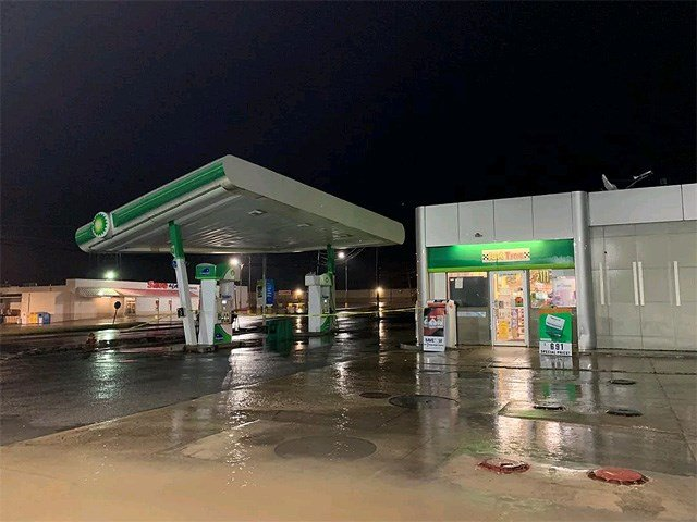 Weather damages BP gas station roof in Campbell - WFMJ com News
