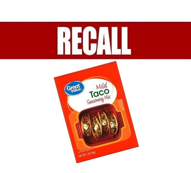 Taco seasoning sold at Walmart recalled for Salmonella concern