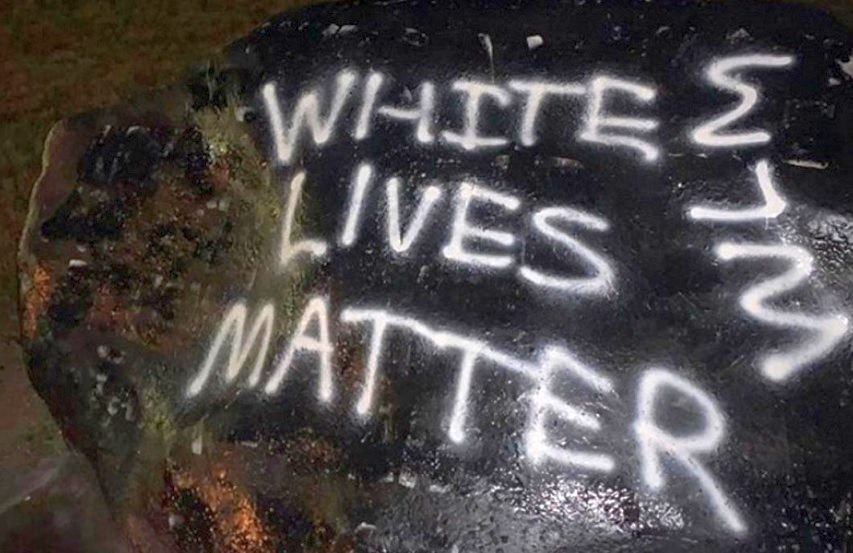 Kent State Halloween 2020 White Lives Matter' repeatedly painted over Kent State rock   WFMJ.com